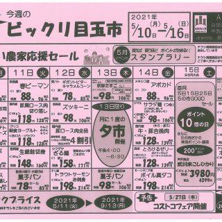 びっくり目玉市(2021.5.10~5.16)